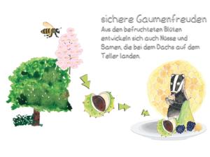 Biene und Kastanie